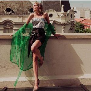 Bloggers Favorite  ZARA Black Mini Skirt Buckle